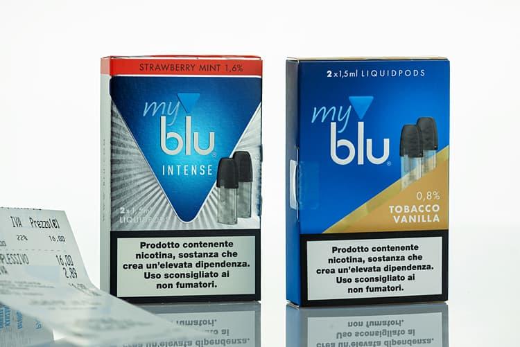 Intense Strawberry Mint und Tobacco Vanilla aus Italien.