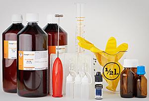 e-liquid selber mischen - pg, vg, flaschen und messbecher